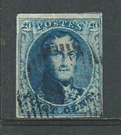 BELGIQUE: Obl., N°7a, Papier Mince, TB - 1851-1857 Medallions (6/8)