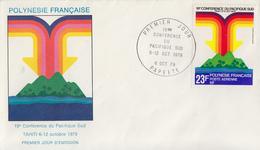 Enveloppe  FDC   1er  Jour   POLYNESIE   19éme   Conférence   Du   PACIFIQUE  SUD   1979 - FDC