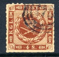 DENMARK 1863 4 Sk.  Rouletted Used. Michel 9 - 1851-63 (Frederik VII)