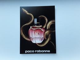 "Carte  + Tatoo   ""pure XS De  PACO RABANNE   ""   Voir Photo  !! - Perfume Cards"