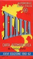CARTA AUTOMOBILISTICA, Scala 1.000.000, XXVI Edizione 1961-62, Automobile Club D'Italia - OTTIMA P53 - Carte Stradali