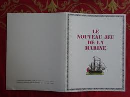 """JEU JEUX GENRE JEU DE L'OIE """" LE NOUVEAU JEU DE LA MARINE """" PUBLICITÉ PHARMACIE LABORATOIRES CLIN - COMAR - Jeux De Société"""