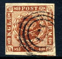 DENMARK 1858 4 Skilling, Fine Used With Good Margins.  SG 16,  Michel 7a - 1851-63 (Frederik VII)
