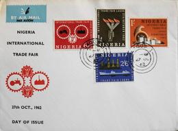 Enveloppe 1er Jour NIGERIA - Foire Internationale - Daté Lagos 27 Octobre 1962 - TBE - Nigeria (1961-...)