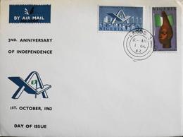 Enveloppe 1er Jour NIGERIA -  2ème Anniversaire De L'Indépendance - Daté Lagos 1er Octobre 1962 - TBE - Nigeria (1961-...)