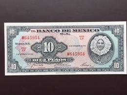 MEXICO P58I 10 PESOS 8.11.1961 UNC - Mexico