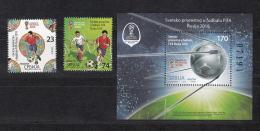 Serbia Serbien 2018 MNH** S-853-855 Bl. 85 FIFA World Cup Russia 2018 M - Fußball-Weltmeisterschaft