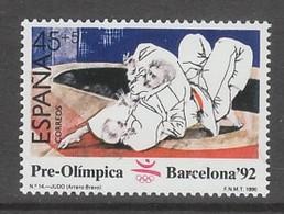 TIMBRE NEUF D'ESPAGNE - JUDO (SERIE PREOLYMPIQUE AUX J.O. DE BARCELONE) N° Y&T 2670 - Judo