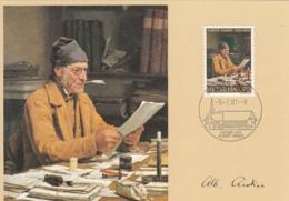 Switzerland 1981 Maxicard Scott #696 70c Albert Anker, Artist - Cartes-Maximum (CM)