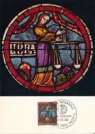 Switzerland 1968 Maxicard Scott #B376 30c + 10c Libra - Rose Window, Lausanne Cathedral - Cartes-Maximum (CM)