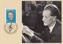 Switzerland 1985 Maxicard Scott #756 80c Frank Martin, Composer EUROPA - Cartes-Maximum (CM)