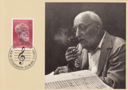 Switzerland 1985 Maxicard Scott #755 50c Ernest Ansermet, Conductor, Composer EUROPA - Cartes-Maximum (CM)