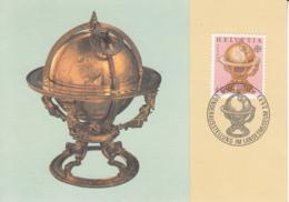 Switzerland 1983 Maxicard Scott #737 40c Celestial Globe, 1594 EUROPA - Cartes-Maximum (CM)
