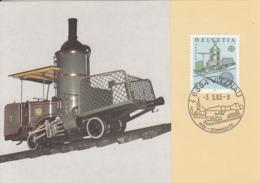 Switzerland 1983 Maxicard Scott #738 80c Cog Railway, 1871 EUROPA - Cartes-Maximum (CM)
