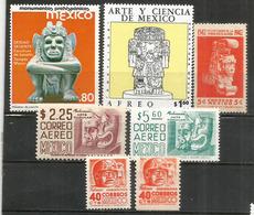 MEXIQUE: Art Aztèque & Maya. 7 Timbres Neufs ** - Archéologie