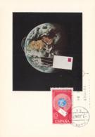 Spain1971 Maxicard Scott #E27 15p Letter Circling Globe - Cartes Maximum