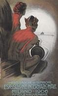 1906 Milan Sempione International Expostion 'Poster Art' Style Promotion, C1900s Vintage Postcard - Exhibitions