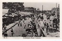 Calcutta India, Kidderpore Road Market Scene, C1930s/50s Vintage Real Photo Postcard - India