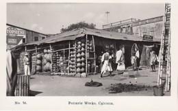 Calcutta India, Pottery Works Store, Market Scene, C1930s/50s Vintage Real Photo Postcard - India