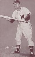 Al Evans Washington Senators MLB Baseball Catcher, Novelty Arcade Card - Baseball