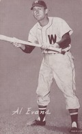 Al Evans Washington Senators MLB Baseball Catcher, Novelty Arcade Card - Andere
