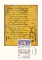 Spain1977 Maxicard Scott #2056 5p St. Emilian Cuculatus, Manuscript Millenium Of Catalan Language - Cartes Maximum