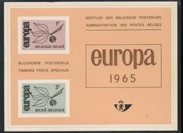1965  EUROPA  Feuillet De Luxe  Tirage De 1000 Ex Seulement  Coté 100,-Euros - Libretti Di Lusso