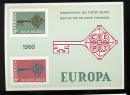 1968  EUROPA  Feuillet De Luxe  Tirage De 1000 Ex Seulement  Coté 100,-Euros - Libretti Di Lusso