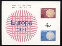 1970  EUROPA  Feuillet De Luxe  Tirage De 1000 Ex Seulement  Coté 100,-Euros - Libretti Di Lusso