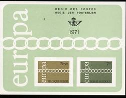 1971  EUROPA  Feuillet De Luxe  Tirage De 1000 Ex Seulement  Coté 100,-Euros - Libretti Di Lusso