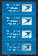 AIR MAIL Par Avion Vignette Label South Africa RSA Not Used - Per Lugpos - Post