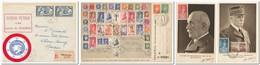 FRANCE - Lot De 2 Enveloppes Et 2 Cartes Postales De Propagande Avec Ph Pétain - Guerre De 1939-45