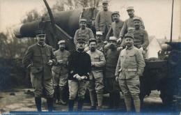 H152 - Les Artilleurs Français Devant Leur Canon Lourd - Carte Photo - Equipment