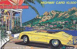 Carte Prépayée Japon - VIEILLE VOITURE By EIZIN - PORSCHE - OLDTIMER CAR Japan Card - AUTO - HW 3248 - Auto's