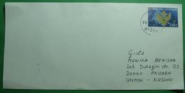 2006 MONTENEGRO COVER Sent From TUZI (Montenegro) To PRIZREN (Kosovo), RARE - Montenegro