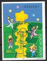 2000 Albanie Yv. BF 96     Mi. Bl. 123 Used  EUROPA Kind Mit Stern - 2000