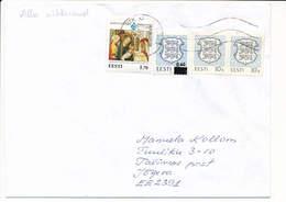 Multiple Stamp Domestic Cover Overprint - 21 December 1995 Tallinn PTK - Estonia
