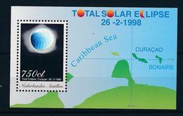 Antilles Néerlandaises 1998 Astronomie éclipse Solaire Totale Holograme MNH** Luxe - Astronomie