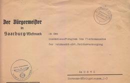 Gd Lettre Préimprimée De Sarrebourg (T 329 Saarburg Lothr F) En Franchise Le 22/10/41 Pour Metz - Postmark Collection (Covers)