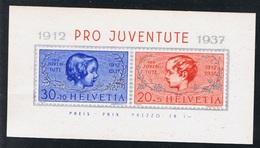 1937 Pro Juvenute Michel Block 3 Postfrisch Xx - Blocks & Kleinbögen