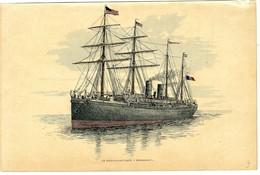 LE TRANSATLANTIQUE NORMANDIE   -  ILLUSTRATION  PLANCHE - Maritime & Navigational