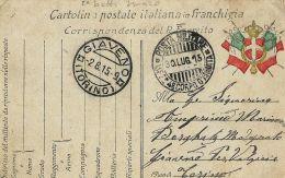 FRANCHIGIA POSTA MILITARE 4 CORPO ARMATA 1915 CIVIDALE DEL FRIULI X VALGIOIE - Military Mail (PM)