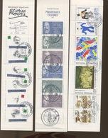 3  Carnets Oblitérés  Très Belle Qualité - Commemoratives