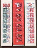 3  Carnets Oblitérés  Très Belle Qualité - Stamp Day