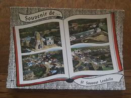 Souvenir De  Saint Sauveur Lendelin - L'Eglise, Groupe Scolaire, Vue Générale - Lapie éditeur - France