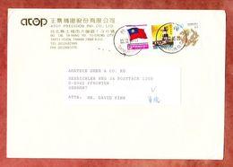 Brief, MiF Leuchtturm U.a., Taipei Hsien Nach Pfronten 1995 (57902) - 1945-... República De China