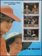 KOREA NORTH - Scott2236 Prince William Of Wales / Used Souvenir Sheet (ss396) - Korea, North