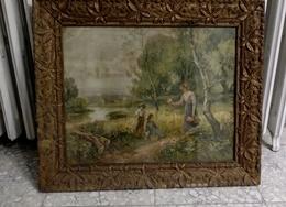 JOLIE GRAVURE ANCIENNE ENCADREE DIM 63x53cm Cadre En Bois - Engravings