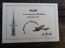 D 80 - Ham - 18ème Exposition Philatélique - 24 Novembre 2002 - La Marine Et L'aviation - Ham