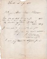 Lettre Facture 1866 / J. CALLANDREAU / Vente Cognac / 17 Saintes / Charente Maritime - France
